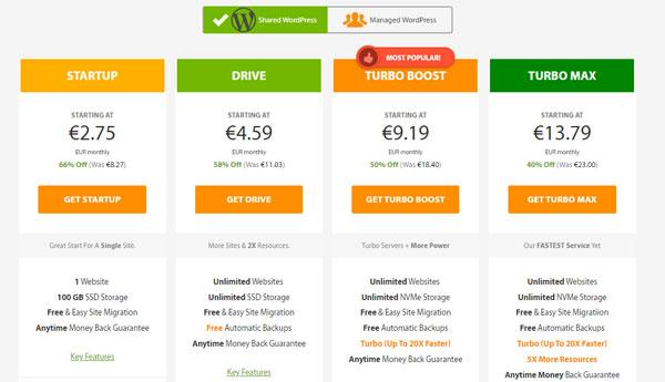 hosting wordpress a2 hosting