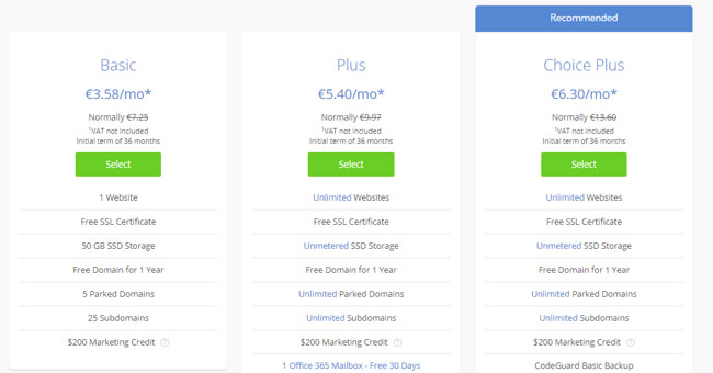 hosting wordpress bluehost