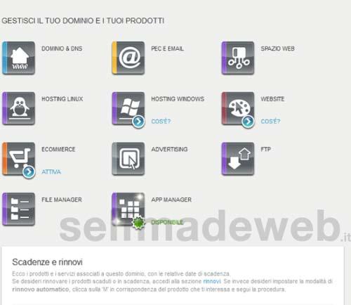 register.it hosting wordpress