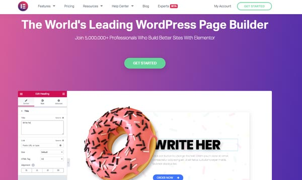 elementor landing page builder-wordpress