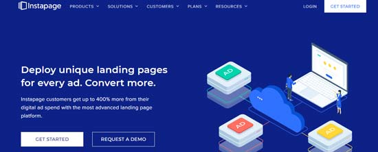 landing page builder instapage
