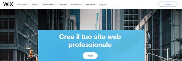 landing page software wix
