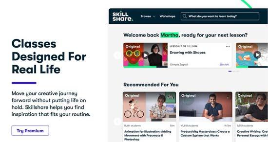 skillshare piattaforma creare corsi online