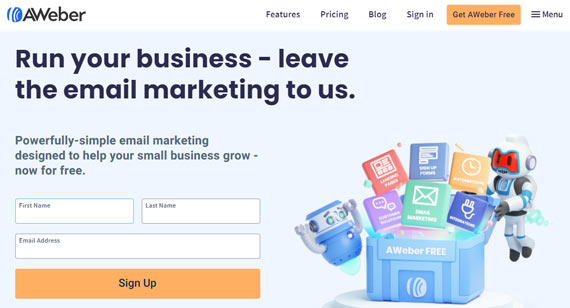 email marketing software aweber