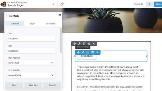 creare landing page wordpress beaver builder
