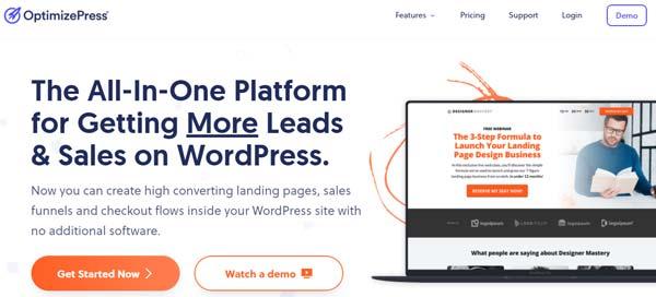 optimizepress landing page wordpress